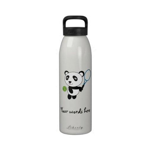 Panda del tenis botella de agua