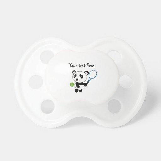 Panda del tenis chupetes