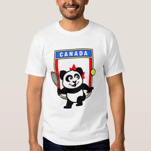 Panda del tenis de Canadá Playeras