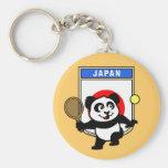 Panda del tenis de Japón Llavero