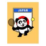 Panda del tenis de Japón Tarjeta Postal