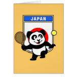 Panda del tenis de Japón Tarjetón