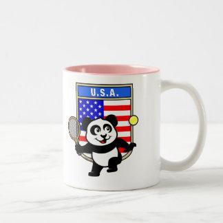 Panda del tenis de los E.E.U.U. Taza De Dos Tonos