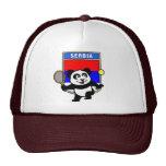 Panda del tenis de Serbia Gorros Bordados
