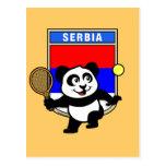 Panda del tenis de Serbia Postal