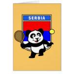 Panda del tenis de Serbia Tarjetón