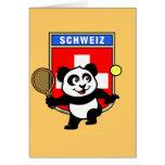 Panda del tenis de Suiza Tarjetas