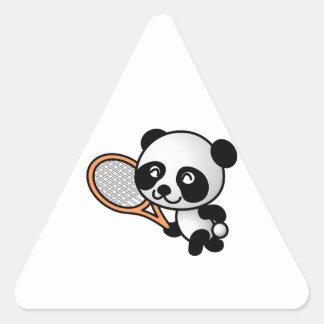 Panda del tenis calcomania triangulo personalizadas
