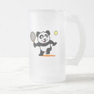 Panda del tenis taza de cristal