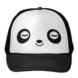 Panda del tiempo de la siesta gorro de camionero