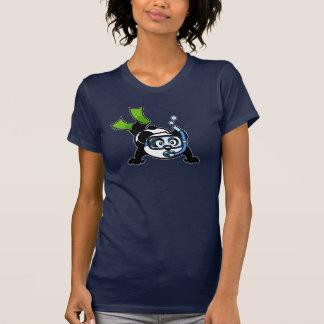 Panda del tubo respirador camisetas oscuro
