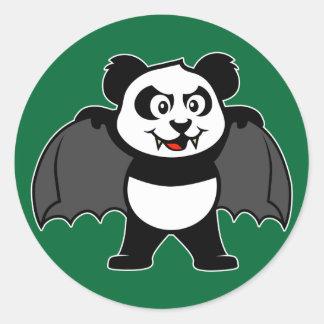 Panda del vampiro etiquetas redondas