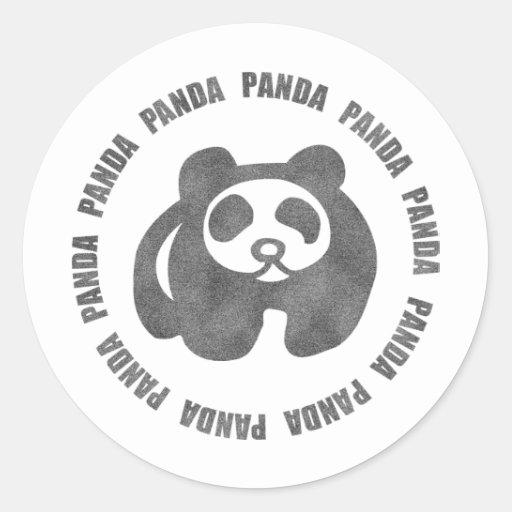 Panda del vintage pegatina redonda