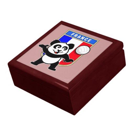 Panda del voleibol de Francia Caja De Recuerdo