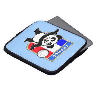 Panda del voleibol de Francia Fundas Computadoras