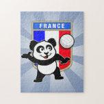 Panda del voleibol de Francia Rompecabezas Con Fotos