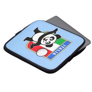 Panda del voleibol de Italia Fundas Computadoras