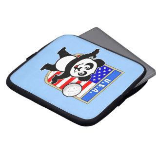 Panda del voleibol de los E.E.U.U. Fundas Computadoras