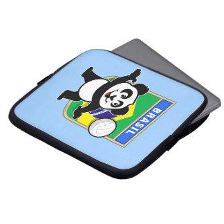 Panda del voleibol del Brasil Fundas Computadoras