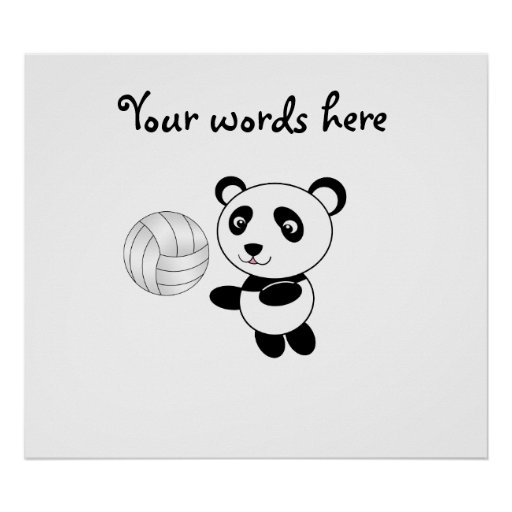Panda del voleibol póster