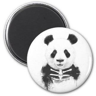 Panda del zombi imán redondo 5 cm