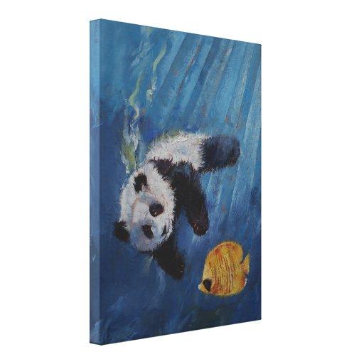 Panda Diver Gallery Wrap Canvas