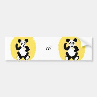 Panda divertida pegatina para auto