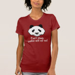 Panda divertida camiseta