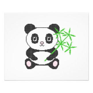 "Panda divertida del punto de cruz folleto 4.5"" x 5.6"""