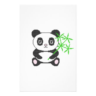 "Panda divertida del punto de cruz folleto 5.5"" x 8.5"""
