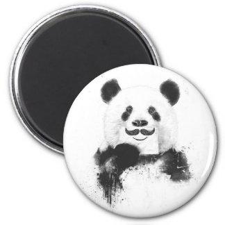 Panda divertida imán redondo 5 cm