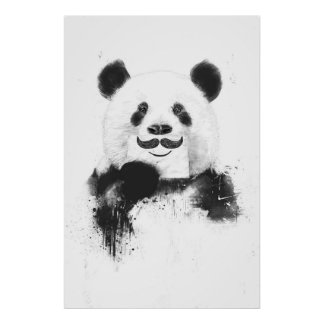 Panda divertida impresiones