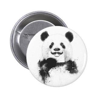 Panda divertida pin redondo de 2 pulgadas