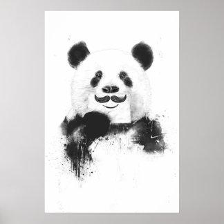 Panda divertida póster