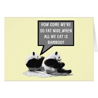 Panda divertida tarjetas