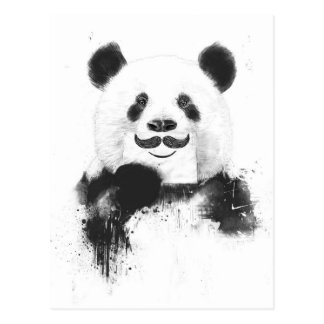 Panda divertida tarjeta postal