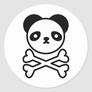 Panda do ku ro classic round sticker
