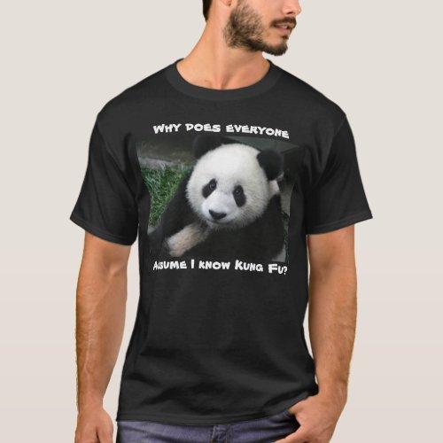 Panda doesnt know Kung Fu shirt dark