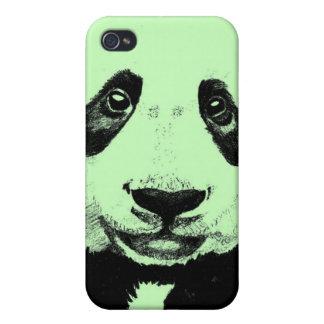 Panda drawing (light green) iPhone 4 cases