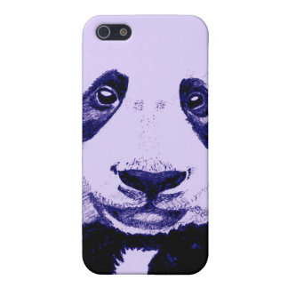 Panda drawing (light purple) cases for iPhone 5