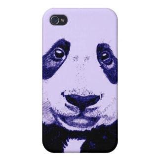 Panda drawing (light purple) iPhone 4/4S case
