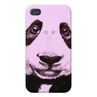 Panda Drawing (light red) iPhone 4 Cases