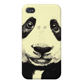 Panda drawing (light yellow) iPhone 4/4S cases