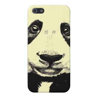 Panda drawing (light yellow) case for iPhone 5