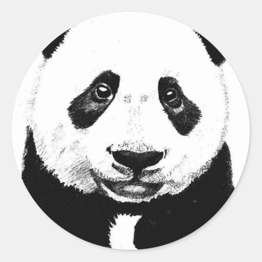 Panda Drawing Classic Round Sticker Zazzle
