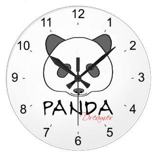Panda Dreamer Large Clock
