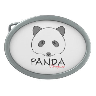 Panda Dreamer Oval Belt Buckle
