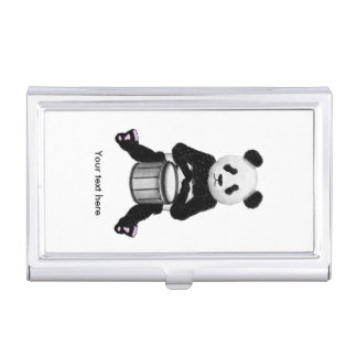 Panda Drumming Case For Business Cards