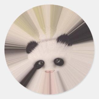 Panda dulce pegatina redonda