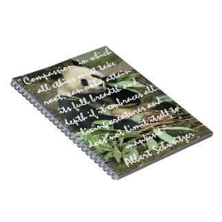 Panda Eating & Albert Schweitzer Quote Notebook